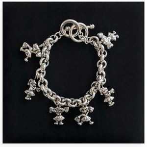 Cheerleader Charm Bracelet Silver Toned